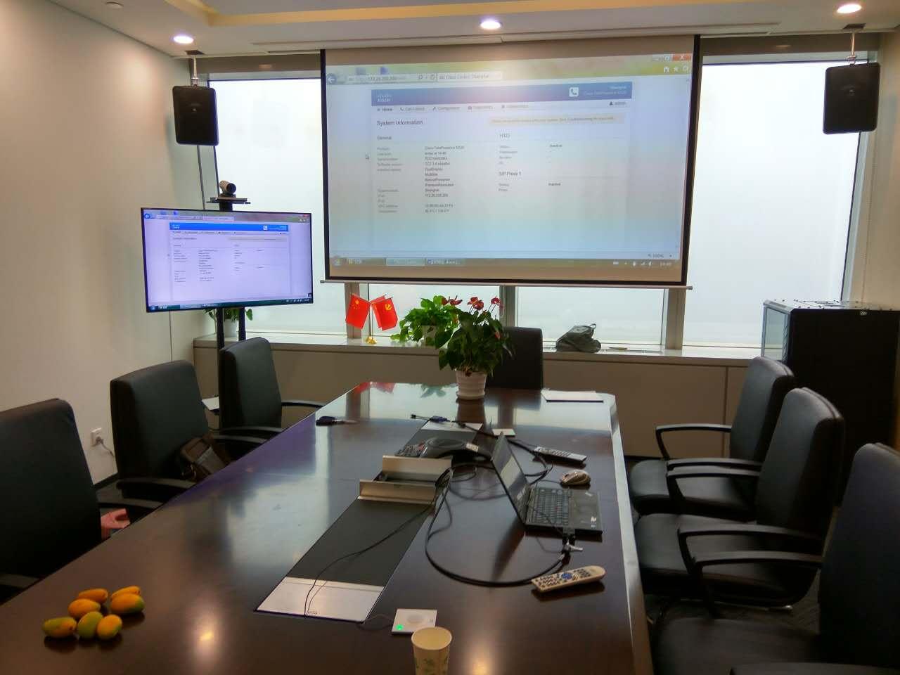 思科sx20配合电视机和投影幕双屏显示